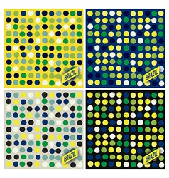 Brazil spots pattern background vector image