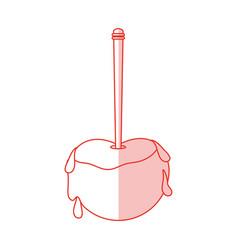 Caramel apple design vector
