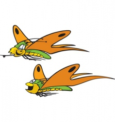 cartoon butterflies vector image vector image