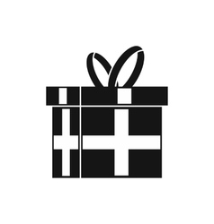 Gift in a box icon simple style vector image vector image