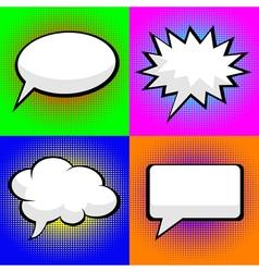pop art comic speech bubbles vector image vector image