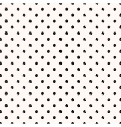 Scribble seamless dots pattern vector image vector image