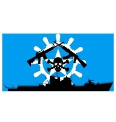 Somali pirates vector