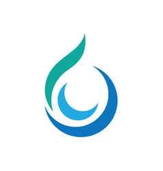 Swirl waterdrop style logo vector