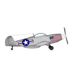 Fighter Mustang vector image