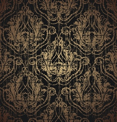 floral grunge seamless ornament vector image vector image