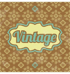 Retro Template Design Vintage Background vector image vector image