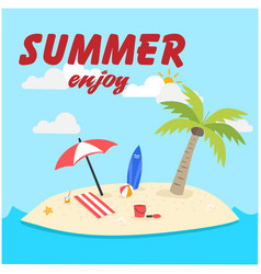 summer enjoy island background image vector image vector image