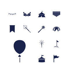 13 festival icons vector