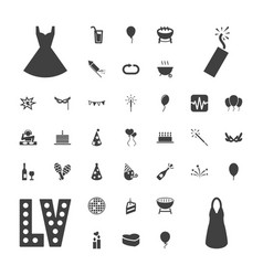 37 party icons vector