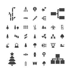 37 tree icons vector