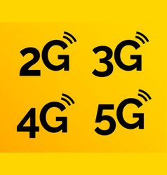 5g icon 4g logo on blue 2g network vector image