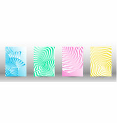a set of abstract patterns with distorted lines vector image