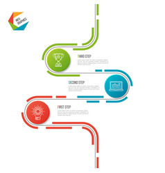 abstract 3 steps road timeline infographic vector image