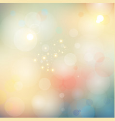 Abstract blurred bokeh lights soft color vector