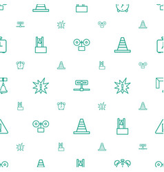 Alert icons pattern seamless white background vector