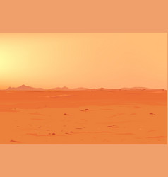 big martian panorama vector image