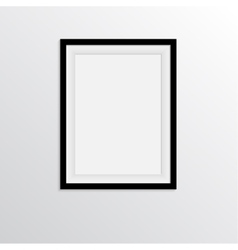 Black frame for paintings or photographs on the vector image