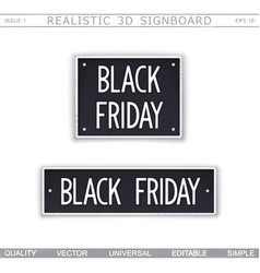 Black friday 3d signboard vector