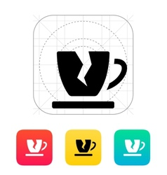 Broken cup icon vector