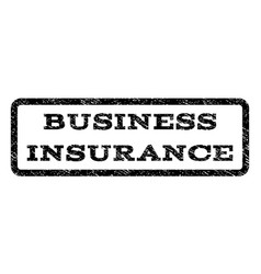 Business insurance watermark stamp vector