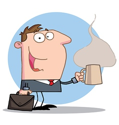 Businessman Holds A Coffee vector