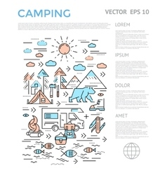 Camping Vertical Infographic vector