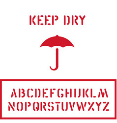 cargo cardboard box keep dry stamp with umbrella vector image