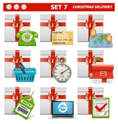 Christmas Delivery Set 7 vector image