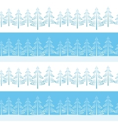 Christmas Trees Seamless vector image
