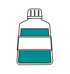 Color silhouette cartoon mouthwash for dental care vector