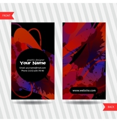 Colorful decorative business cards with free vector