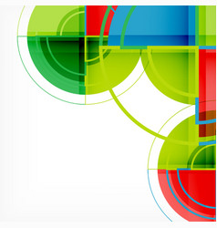 creative circles geometric abstract background vector image