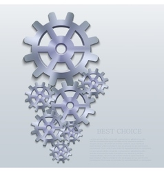 Creative mechanism icon background vector
