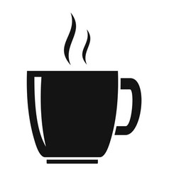 cup of hot tea icon simple style vector image