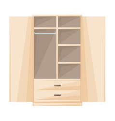 Cupboard iconcartoon icon isolated vector