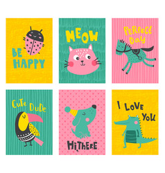 cute cards vector image