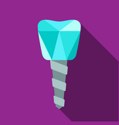 dental implant symbol vector image vector image