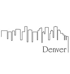 Denver city one line drawing vector