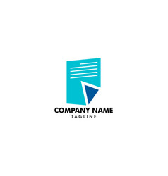 document or paper sheet logo design vector image