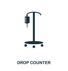 drop counter icon line style icon design ui vector image