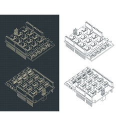 Expansion module for arduino uno drawings vector
