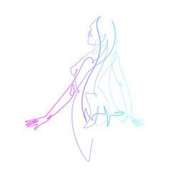 female figure continuous line graphic vector image
