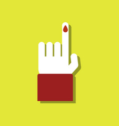 Flat icon design collection blood test in sticker vector