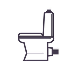 Flush toilet icon sanitation porcelain fixture vector