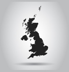 great britain map black icon on white background vector image