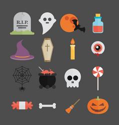 Halloween symbol set vector