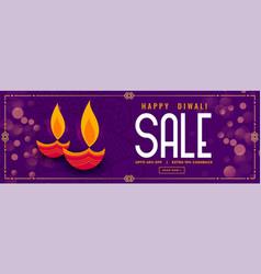 Happy diwali diya design purple sale banner design vector