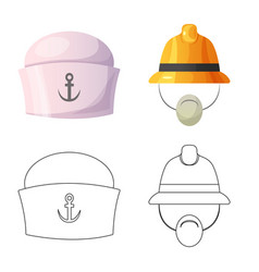 Headgear and cap icon vector