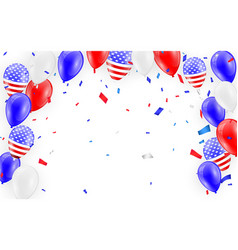 holidays card design american flag balloons with vector image